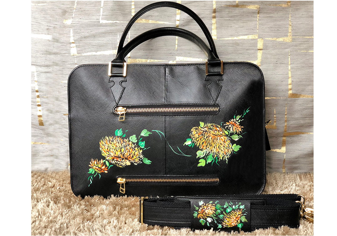 Le Jardin - Sharon Walia Handpainted Laptop Bag