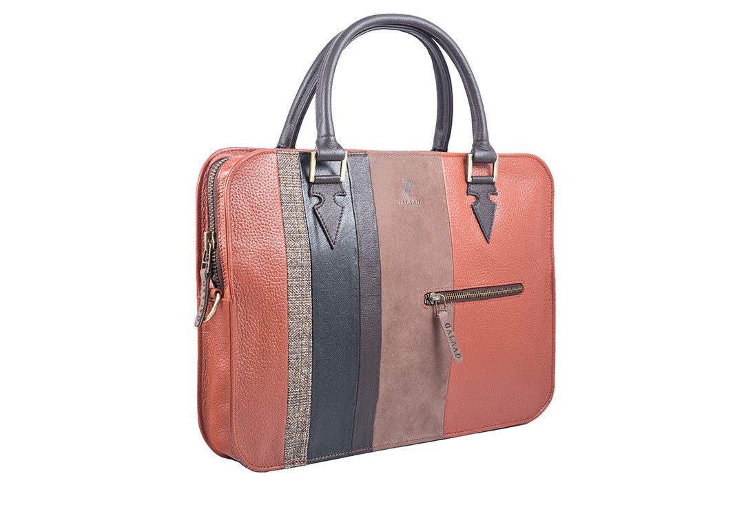 Tidy in Tweed Orange - Laptop Bag