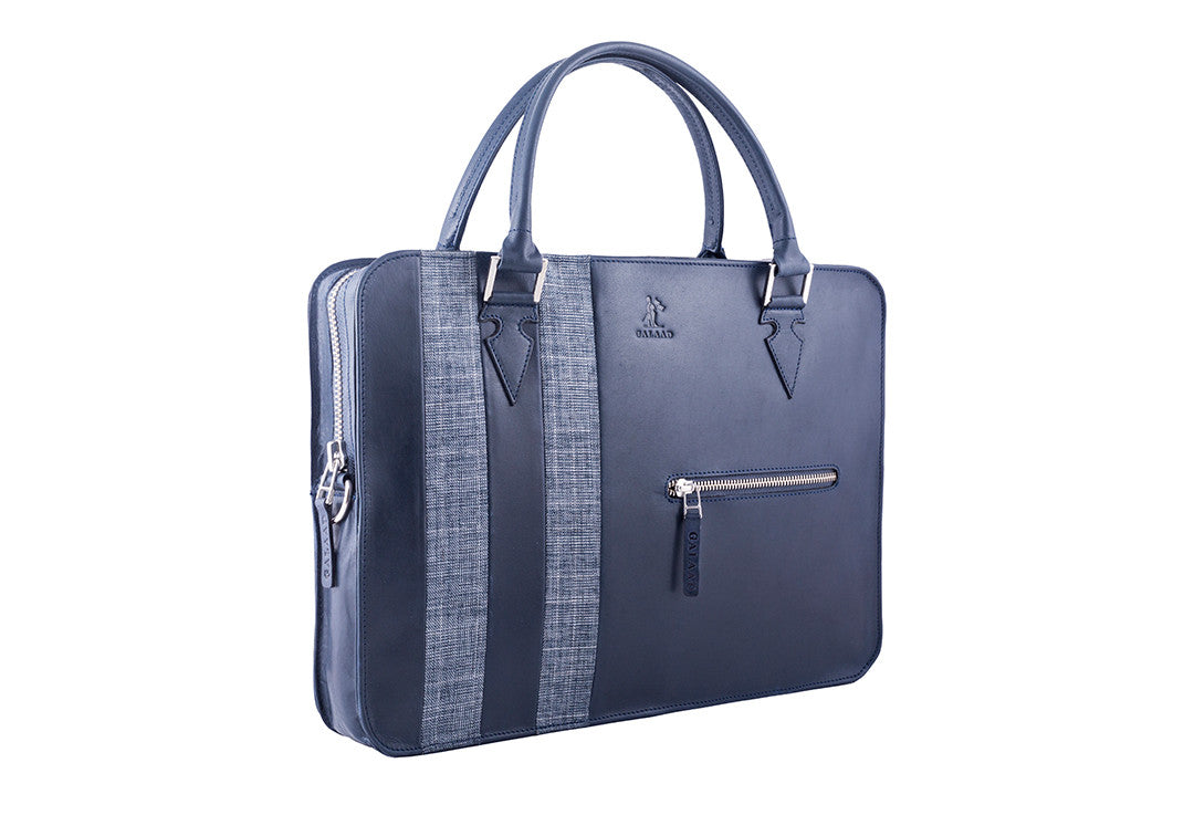High Feather  Navy - Laptop Bag