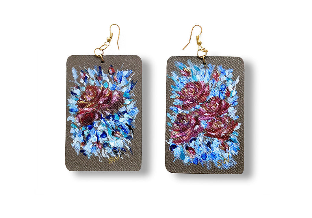 Beach Breeze - Sharon Walia Handpainted Earrings