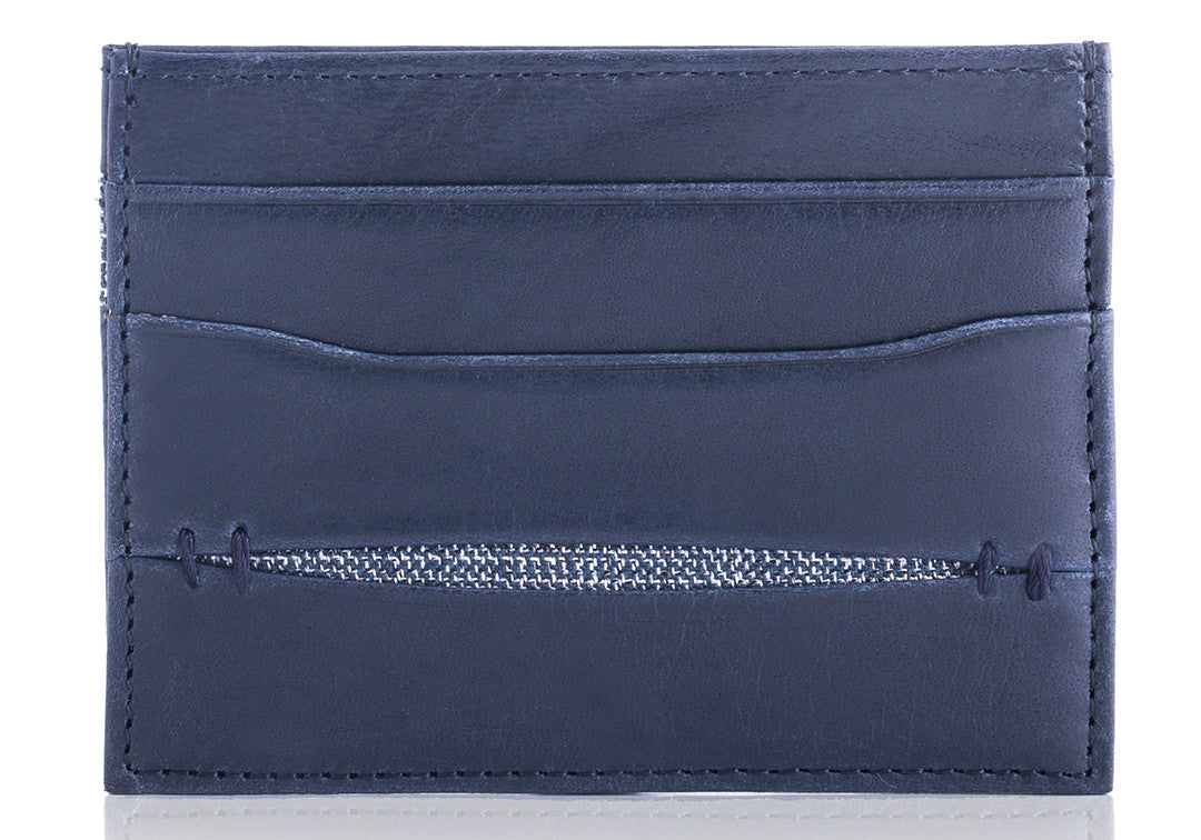 High Feather Navy - Card Holder