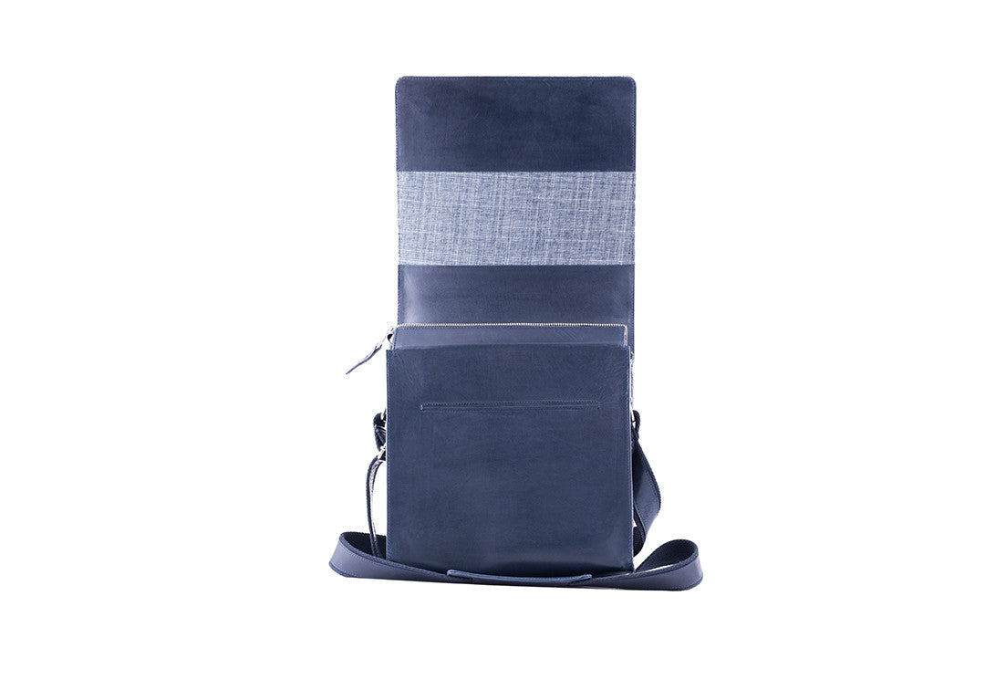 High Feather Navy - Messenger Bag