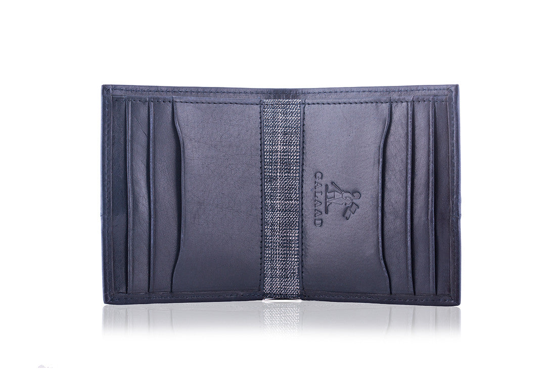 High Feather Navy - Wallet