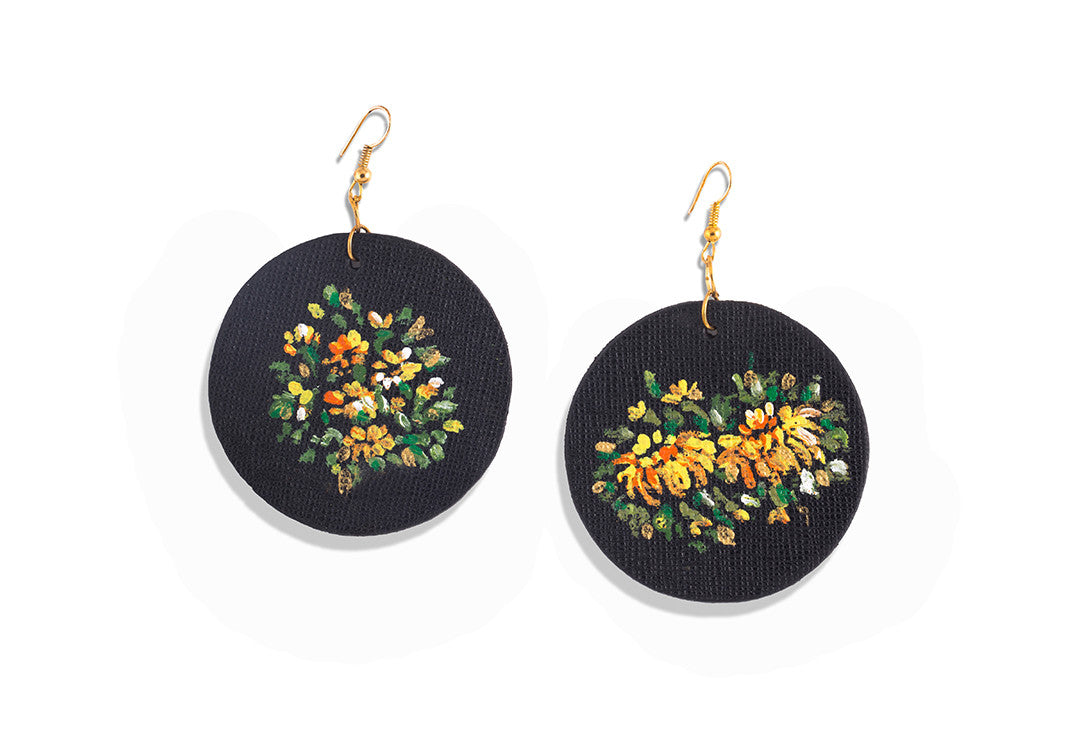 Le Jardin - Sharon Walia Handpainted Earrings