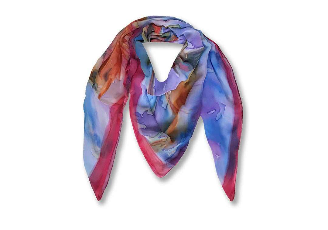 Les Flamants Roses - Sharon Walia Handpainted Scarf