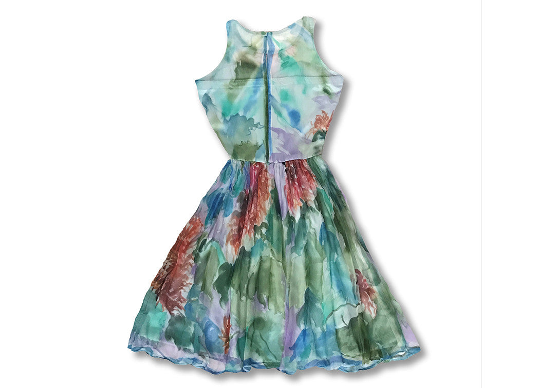 Monet's Garden - Sharon Walia Handpainted Dress