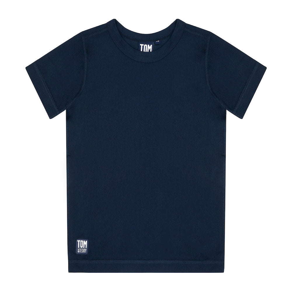 Solid Deep Blue Short Sleeve