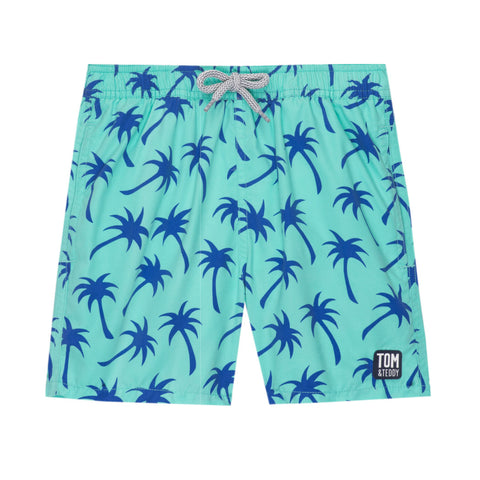 Aqua Green & Blue Palms