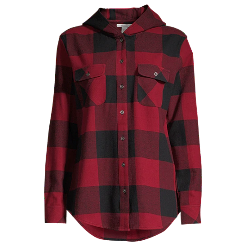 Ripzone Women's Apex Hooded Plaid Flannel