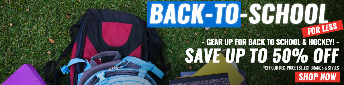Back To School Sale, find all your favourite back to school gear August 9-15 and save up to 50% off our regular price on select brands and styles.