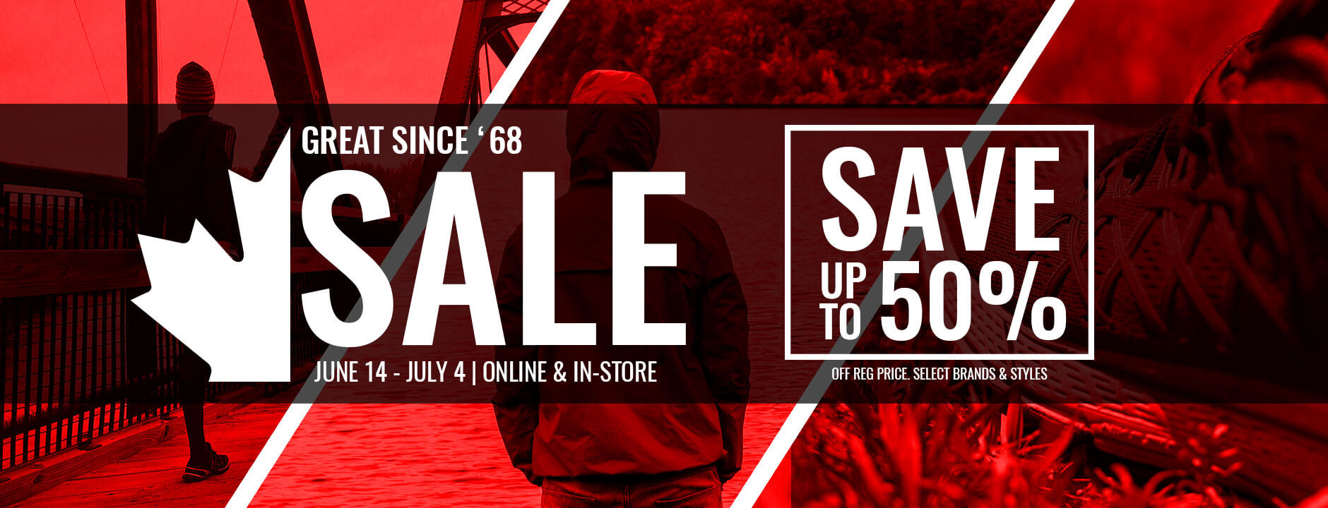 National Sports Great Since '68 Sale, Save Up To 50% Off Regular Price on Select Brands and Styles, June 14, 2019- July 4, 2019, Online & In-Store