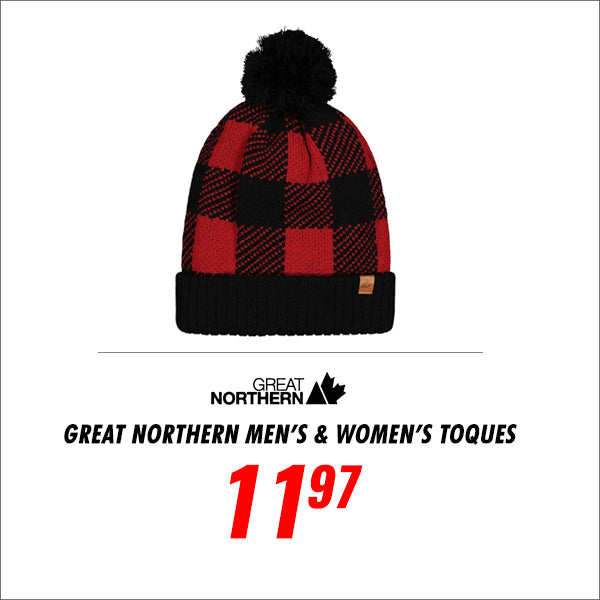 Great Northern Men's/ Women's Sherpa Lined Toques
