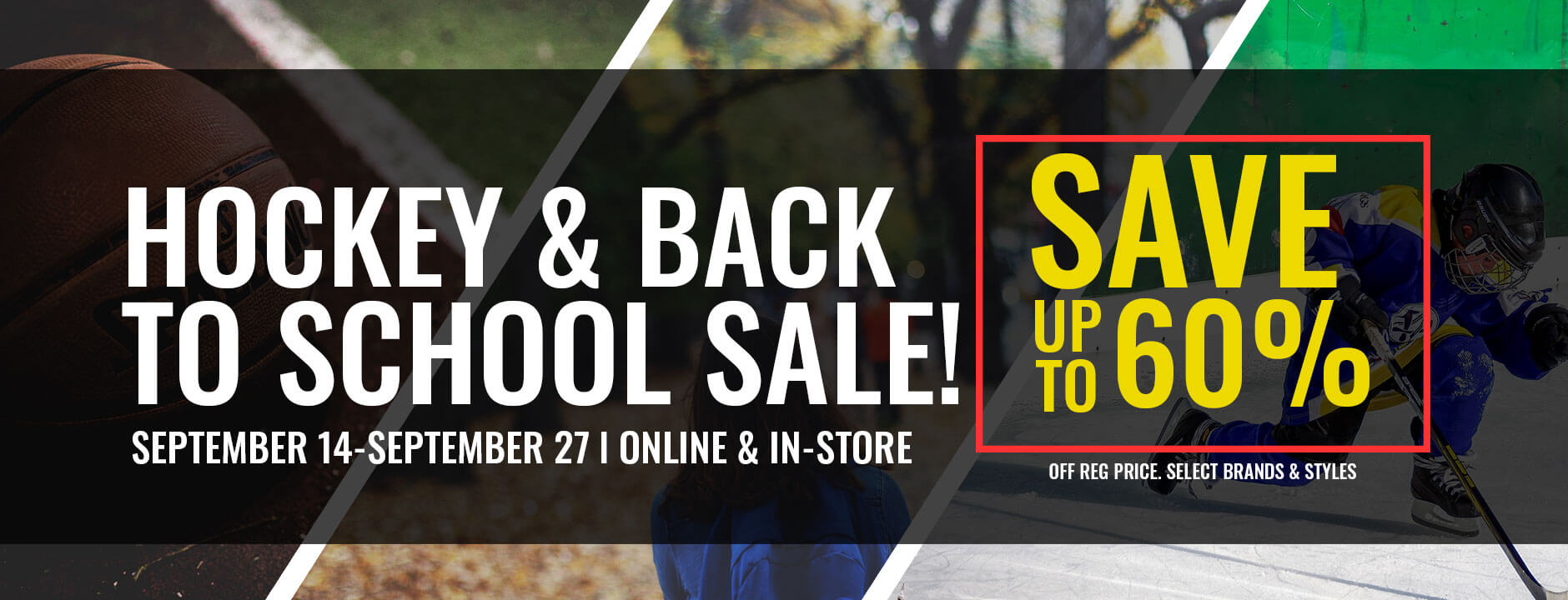 Hockey & Back To School Sale