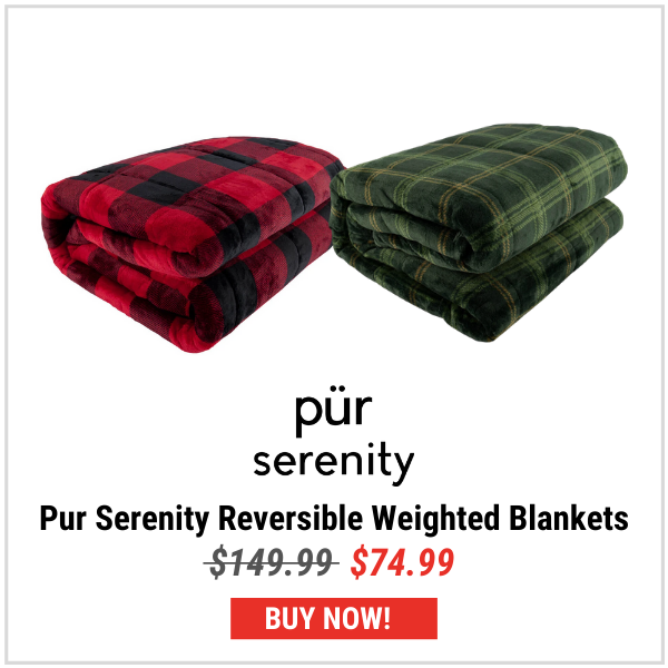 Pur Serenity Reversible Weighted 15lbs Blankets