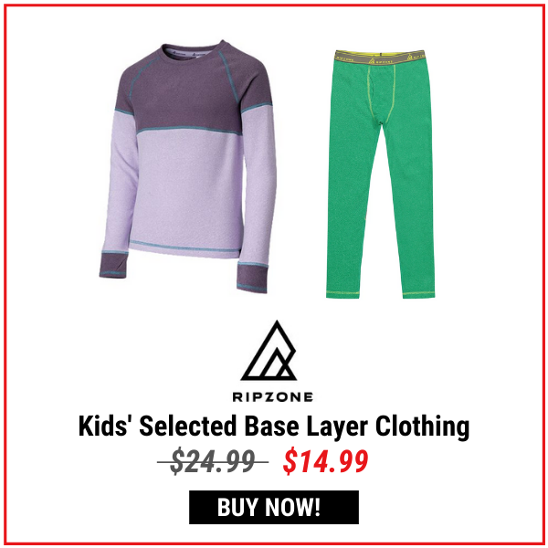 Ripzone Kids' Selected Base Layer Clothing