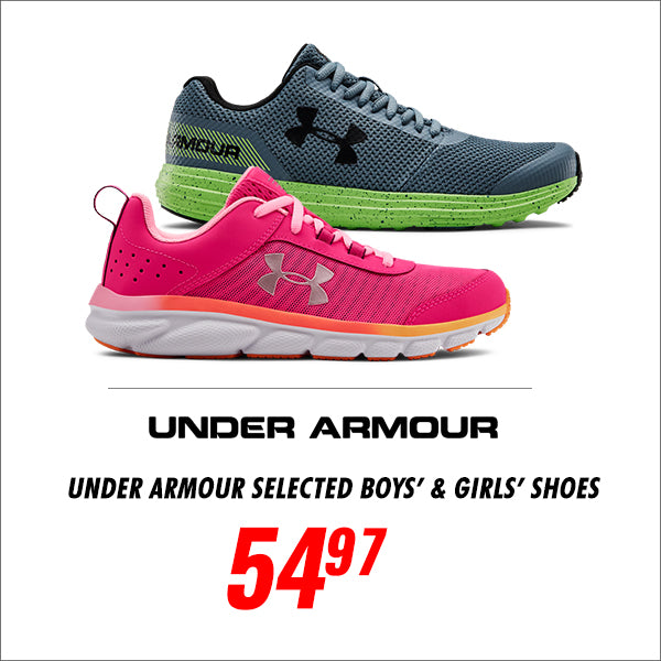 UNDER ARMOUR SELECTED BOYS' AND GIRLS' SHOES