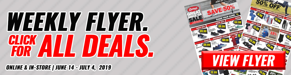 National Sports Weekly Flyer, Click For All Deals, Online & In-Store June 14, 2019 - July 4, 2019, View Flyer