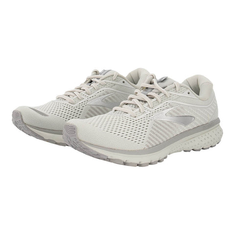 BROOKS WOMEN'S GHOST 12 RUNNING SHOE OYSTER/WHITE