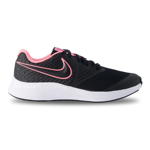 NIKE GIRLS GRADE SCHOOL STAR RUNNER KIDS SHOE BLACK/SUNSET PULSE/BLACK/WHITE