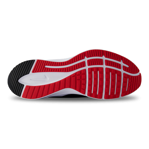 NIKE MEN'S QUEST 3 RACER RUNNING SHOE BLACK/UNIVERSITY RED/WHITE