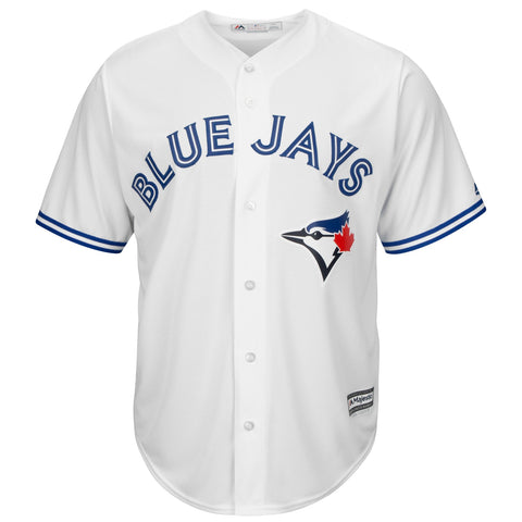 MAJESTIC MEN'S TORONTO BLUE JAYS COOLBASE REPLICA HOME JERSEY WHITE