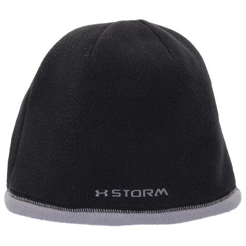 UNDER ARMOUR YOUTH COLD GEAR INSULATED BEANIE BLACK-STEEL