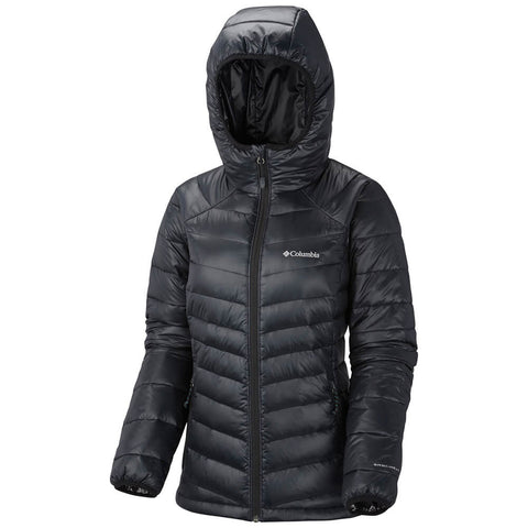 COLUMBIA WOMEN'S GOLD 650 TURBODOWN HOODED JACKET BLACK 2014