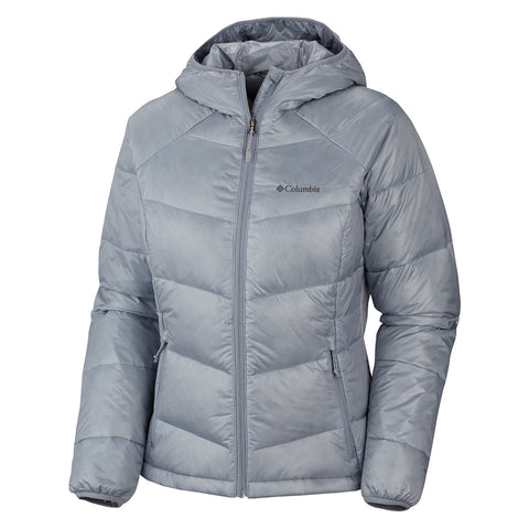 COLUMBIA WOMEN'S GOLD 650 TURBODOWN HOODED JACKET GREY 2014