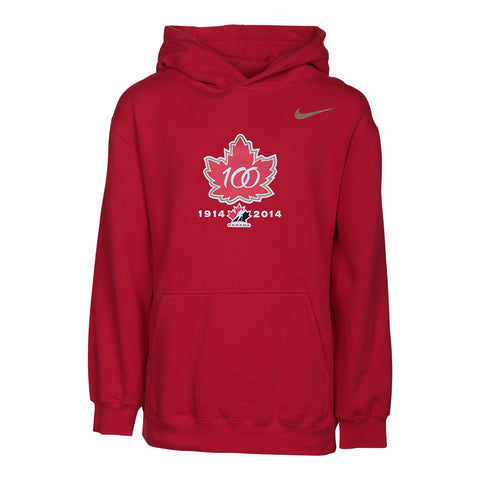 NIKE YOUTH TEAM CANADA KO HOODY RED