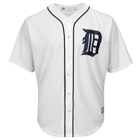 MAJESTIC MEN'S DETROIT TIGERS COOL BASE JERSEY WHITE