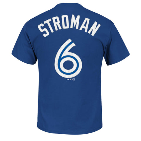 MAJESTIC MEN'S TORONTO BLUE JAYS STROMAN PLAYER TOP BLUE