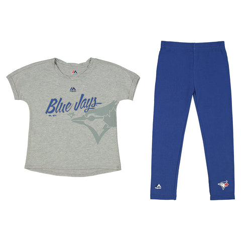 MAJESTIC GIRLS 4-6X TORONTO BLUE JAYS TOP-LEGGING SET