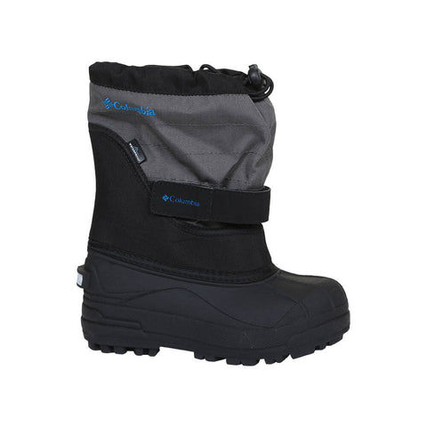 COLUMBIA BOYS POWDERBUG PLUS II WINTER BOOT BLACK/BLUE