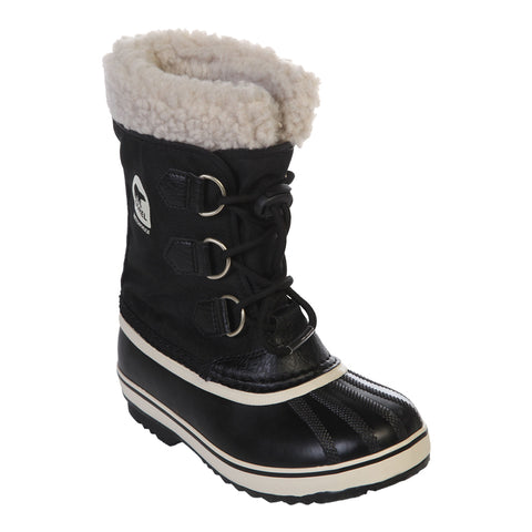SOREL BOYS BOOTS YOOT PAC NYLON BLACK