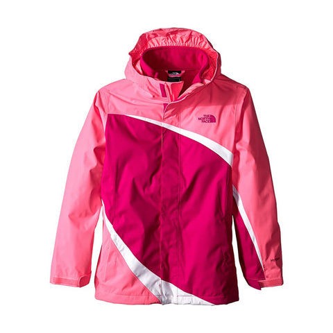 THE NORTH FACE GIRLS LARGE MOUNTAIN VIEW JACKET PINK/GREEN