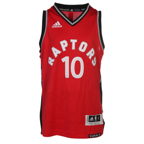 ADIDAS YOUTH TORONTO RAPTORS SWINGMAN ROAD DEROZAN JERSEY RED