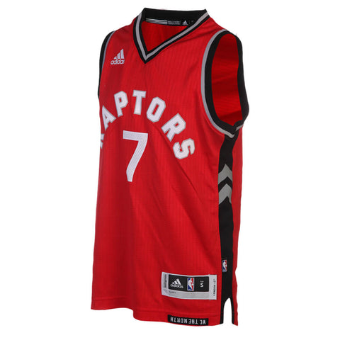 ADIDAS YOUTH TORONTO RAPTORS SWINGMAN ROAD LOWRY JERSEY RED