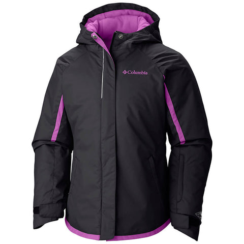 COLUMBIA GIRLS ALPINE ACTION OMNI - HEAT JACKET BLACK 2016