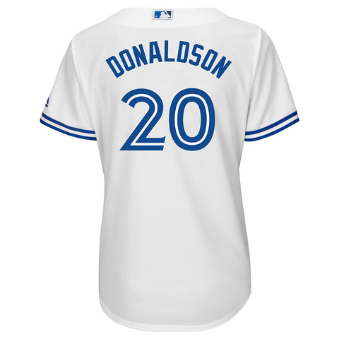 MAJESTIC WOMEN'S TORONTO BLUE JAYS DONALDSON REPLICA HOME JERSEY WHITE