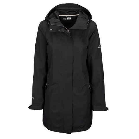 MCKINLEY WOMEN'S MAUNA LONG RAIN JACKET BLACK
