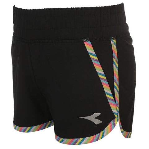 DIADORA GIRLS RAINBOW SPORT SHORT BLACK