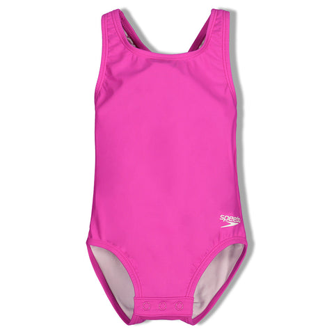 SPEEDO GIRL'S TODDLER RACERBACK 1 PIECE NEW BLUSH