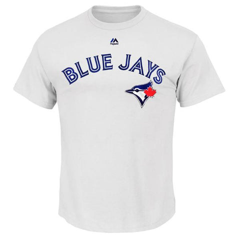 MAJESTIC MEN'S TORONTO BLUE JAYS GUERRERO JR SHORT SLEEVE PLAYERS TOP WHITE