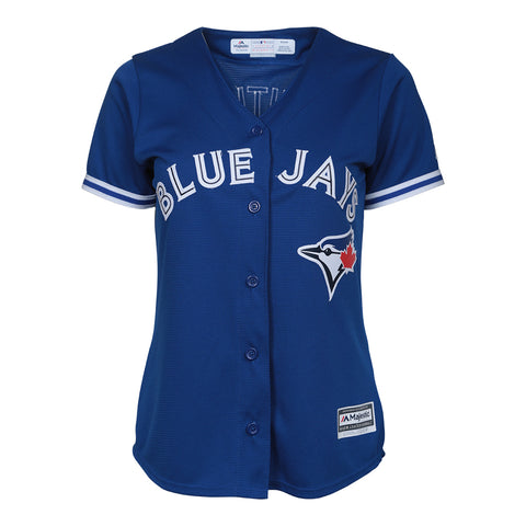 MAJESTIC WOMEN'S TORONTO BLUE JAYS BAUTISTA ALTERNATE JERSEY BLUE