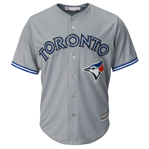 MAJESTIC MEN'S TORONTO BLUE JAYS  COOL BASE REPLICA ROAD JERSEY GREY
