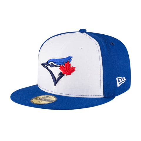 NEW ERA TORONTO BLUE JAYS 5950 PRIMARY LOGO CAP ROYAL/WHITE