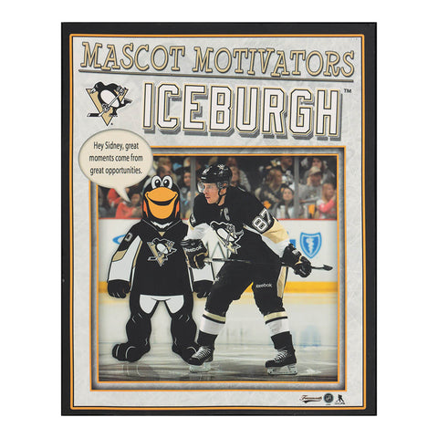 FRAMEWORTH PITTSBURGH PENGUINS ICEBURGH MOTIVATOR PLAQUE