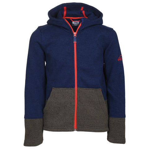MCKINLEY B SKIPPER KNIT LOOK JACKET BLUE/GREY