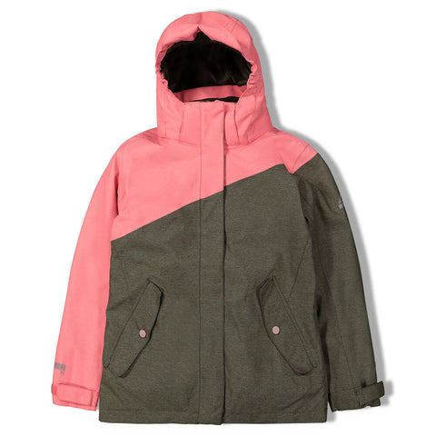 MCKINLEY GIRLS MOTO 3 IN 1 JACKET COREL/LEAF