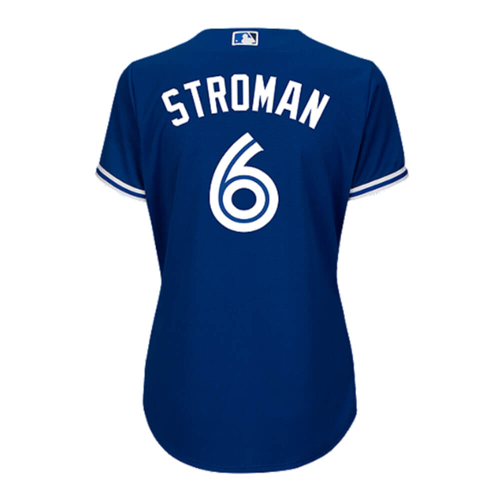 newest c0bda 8b4e7 MAJESTIC WOMEN'S TORONTO BLUE JAYS ALTERNATE STROMAN JERSEY